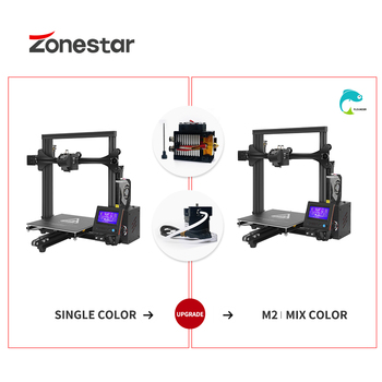 ZONESTAR Upgrade Kit Extruder RepRap 3D Printer 2-IN-1/2-OUT Mixing Color Hotend & Extrusion Feeder for Z5 D805S etc.