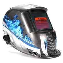 Домашний сварочный шлем с автоматическим затемнением на солнечной батарее, защитный шлем для глаз, очки для сварщика, маска для пайки, инстр...
