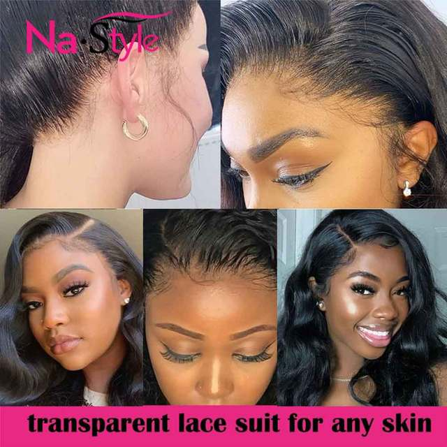 Transparent Lace Wig 250 Density Lace Front Wig Invisible Lace Front Human Hair Wigs Body Wave Preplucked Lace Wig Brazilian 2