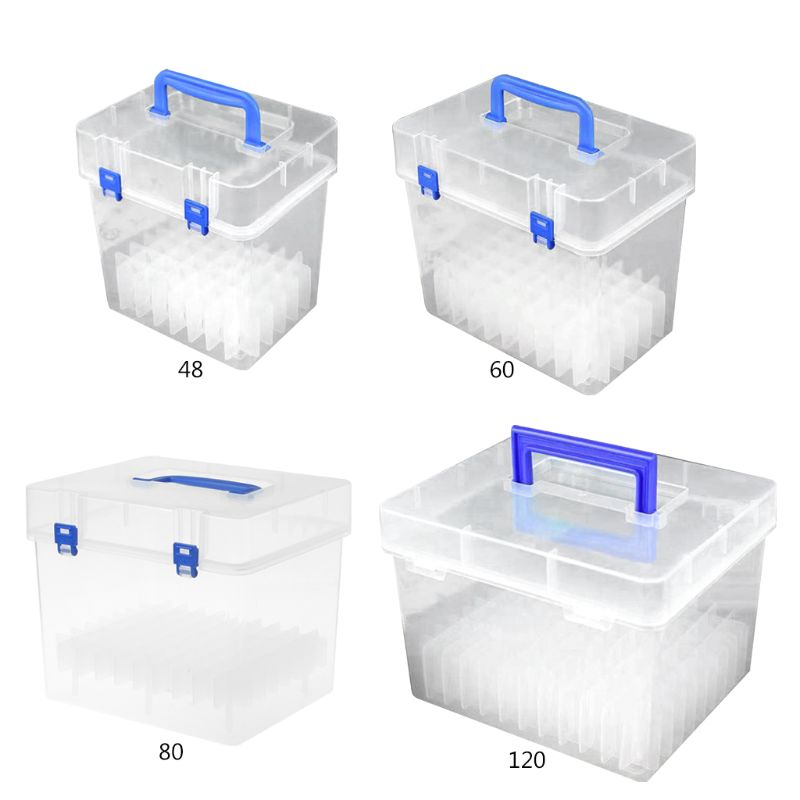 Transparent Marker Pens Storage Box Container Art Craft Tray Office Desk Organizor Home School Students Study Supply