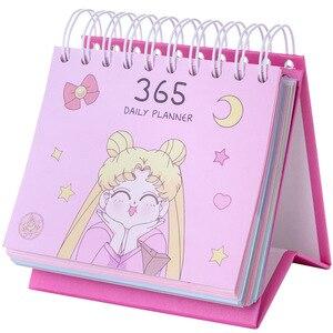 Image 5 - 2020 بحار القمر 365 يوم التقويم بنات الأزرق Kawaii اكسسوارات أنيمي بحار القمر Tsukino Usagi الأميرة الصفاء تأثيري هدية