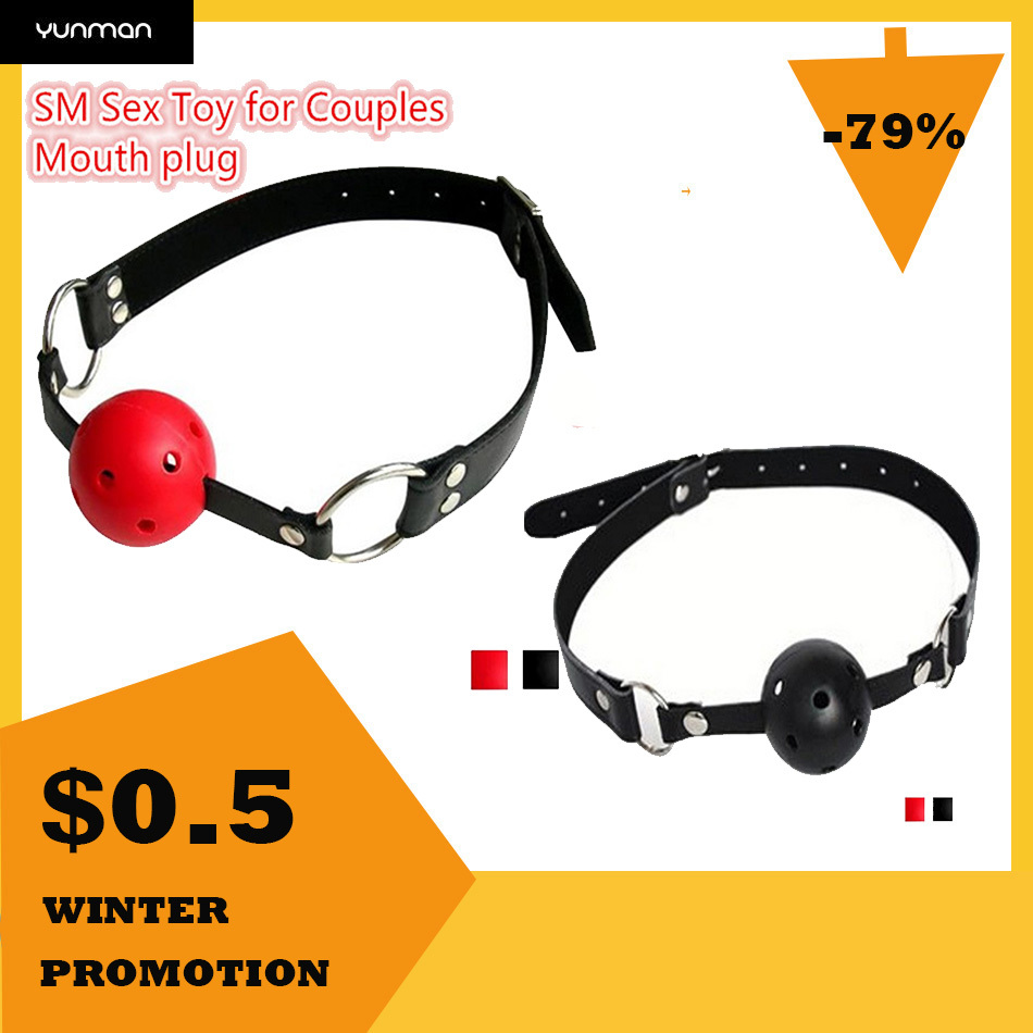 2 Colors Slave Harness Erotic Ball Gag  Bondage Fetish Mouth Restraints SM Sex Toy For Couples