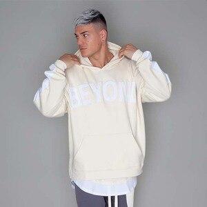 Image 3 - Hip Hop hommes à capuche coupe vent veste automne 2019 décontracté Vintage couleur bloc lâche piste à capuche veste manteaux Streetwear HipHop