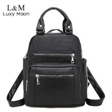 2020 Women Backpack Lady Vintage Leather Bag High Quality Shoulder Bag Female Multifunctional Backpa