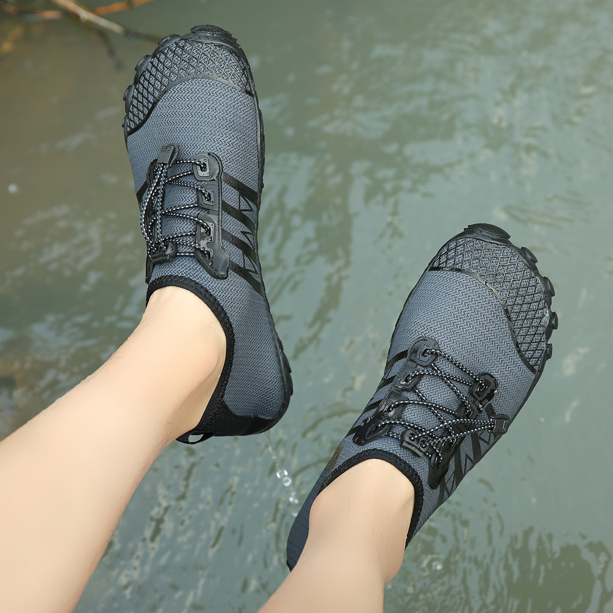 Men Women New  Water Shoes Surfing Swimming Shoes Solid Color Summer Aqua Beach Shoes, Socks Seaside Sneaker Slippers For Men