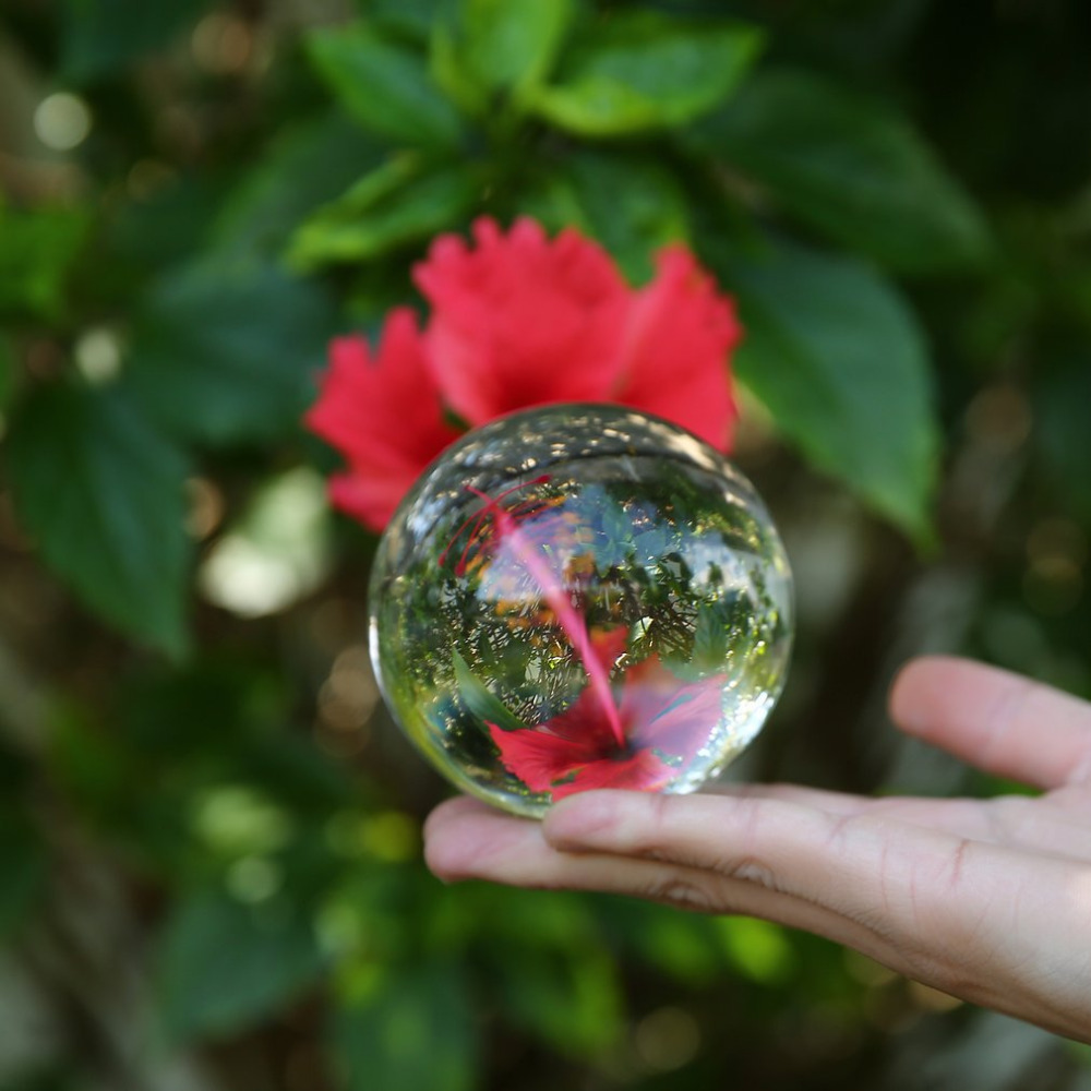 50mm/80mm/100mm Household Crystal Ball Quartz Glass Transparent Ball Spheres Feng Shui Glass Ball Miniatures Ornaments Gift