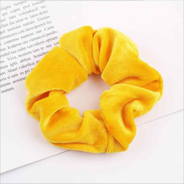 33 цвета Корея бархатное кольцо-повязка для волос эластичные резинки для волос сплошной цвет женские головные уборы для девушек хвост Зажим Для Волос Аксессуары