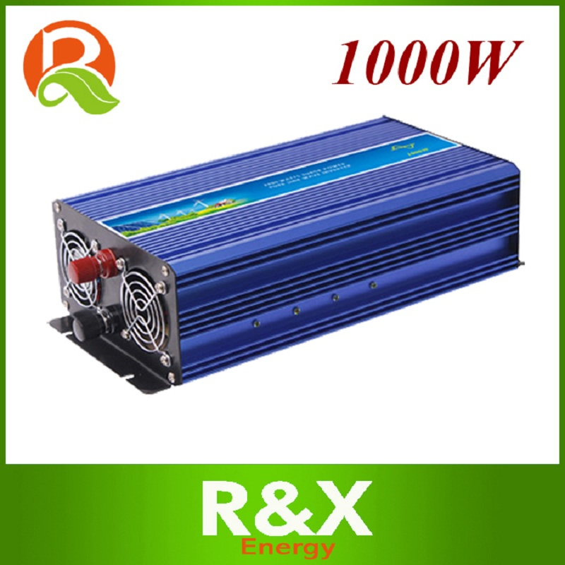 R&X 1000W off Grid Pure Sine Wave Inverter Wind Solar Power Inverter DC12V~110V/ to AC 110~240V with CE RoHS FCC Certificates