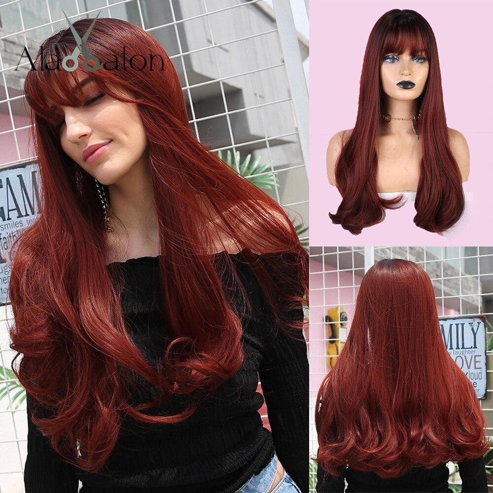 Парики ALAN EATON для косплея Лолиты с эффектом омбре, Длинные Синтетические волосы с крупной волной для женщин, из высокотемпературного волокн...