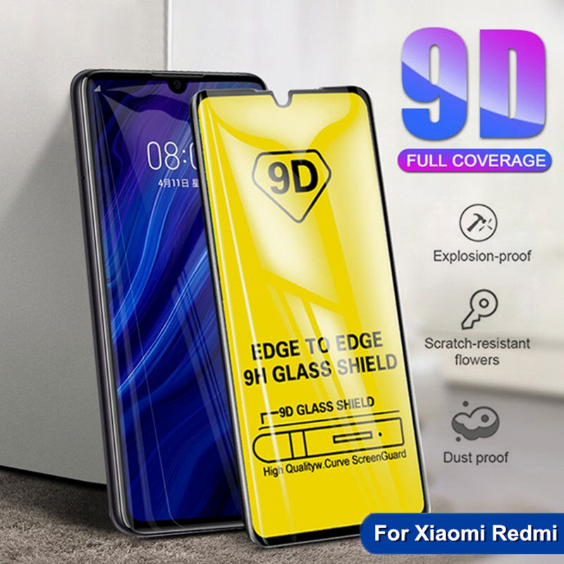 Full Cover Tempered Glass For Xiaomi Redmi 7 7A 6 6A K20 Pro 5 Plus Redmi Note 5 5A 6 7 pro Protective Screen Protector Film-in Phone Screen Protectors from Cellphones & Telecommunications