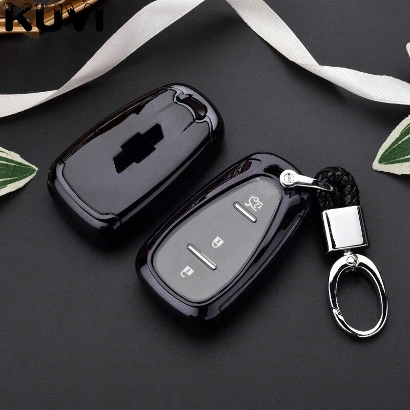 Pc+Tpu Car Key Covers Key Case Fob Shell For <font><b>chevrolet</b></font> for cruze <font><b>spark</b></font> camaro Volt Bolt Trax Malibu 2016 <font><b>2017</b></font> 2018 image
