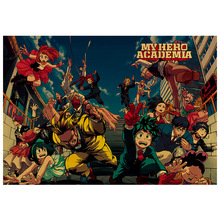 Wall-Paper Posters Academia Painting Retro Hero My for Home-Decor Kraft Janpnese High-Quality