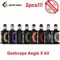 2 stuks Elektronische Sigaret Geekvape Aegis X kit 200W Box Mod 5.5ml Cerberus tank verstuiver ALS 2.0 Chipset door 18650 batterij Kit