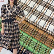 50cm*145cm New Tr Yarn-Dyed Plaid Fabric Color Yellow Big Plaid Jacket Suit Dress Plaid Fabric Twilllattice plaid