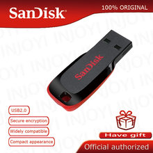 Clés USB SanDisk CZ50 d'origine 8GB 16GB clé USB 32GB 64GB clé USB 2.0 prise en charge de la clé USB vérification officielle(China)