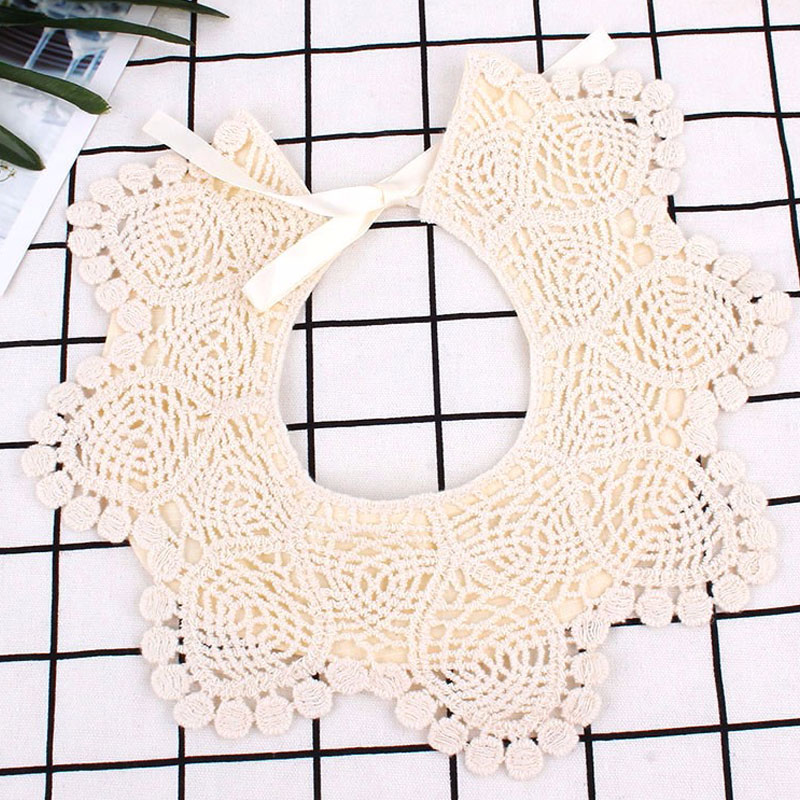 100% Cotton Revolving Baby Bib 360 Degree Universal Baby Lace Bib Large False Collar  Mouth Towel  Newborn Bib
