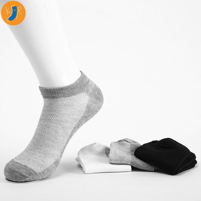 20Pcs=10pairs 2019 Men Socks Invisible Ankle Socks Breathable Thin Summer Cotton Socks Men Size EUR 39-45 With Bag 1