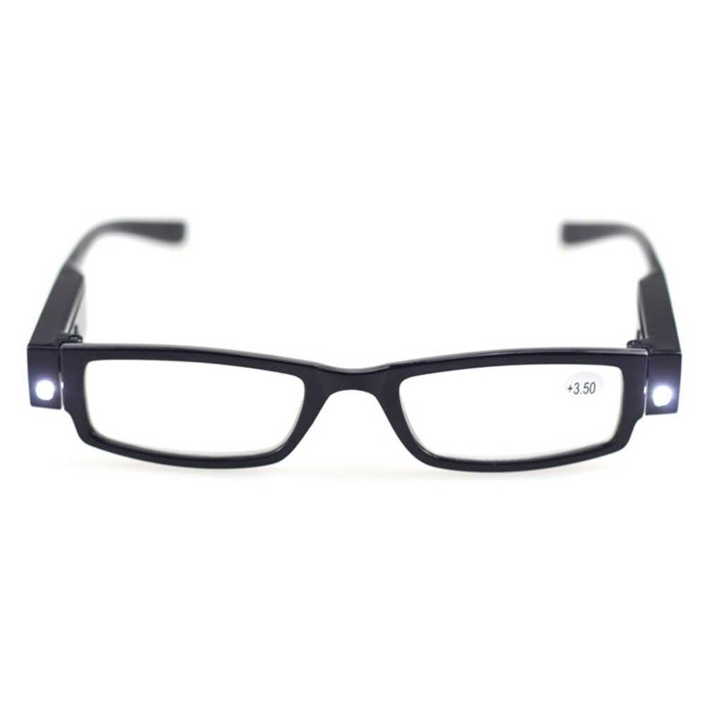 LED מגדלת Eyewears משקפי קריאת יוניסקס תאורת זכוכית מגדלת משקפיים עם אור