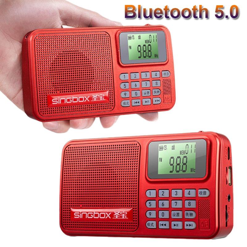 Мини fm-радио Bluetooth 5,0 Hi-Fi музыкальный плеер с светодиодный дисплеем поддержка tf-карты U диск запись AUX воспроизведение отключение памяти
