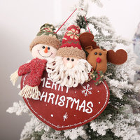 Santa Claus Snowman Xmas Tree Hanging Ornaments Pendant Drop Christmas Decorations For Home Decor New Year Gift Party Supplies