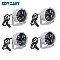 4 個ハイパワー IR LED 赤外線イルミライト赤外線ナイトビジョン広角セキュリティカメラ補助光金属防水
