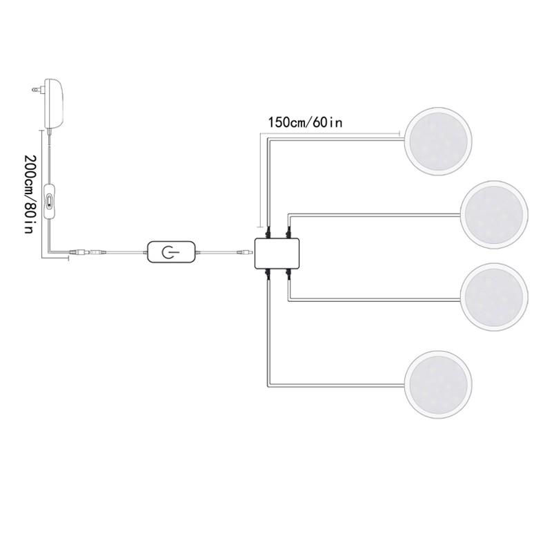 touch sensor puck lights