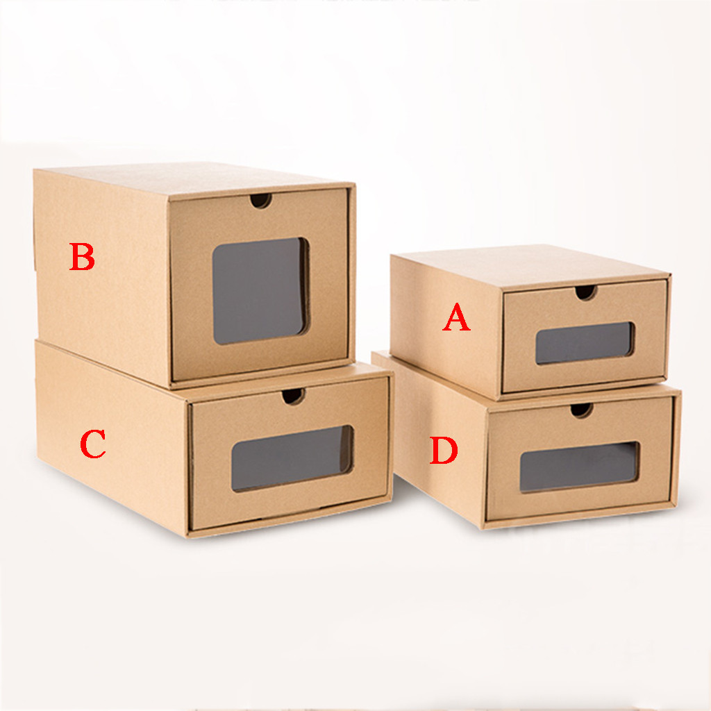 Thick Shoe Organizer Box made of Cardboard with Drawers 4
