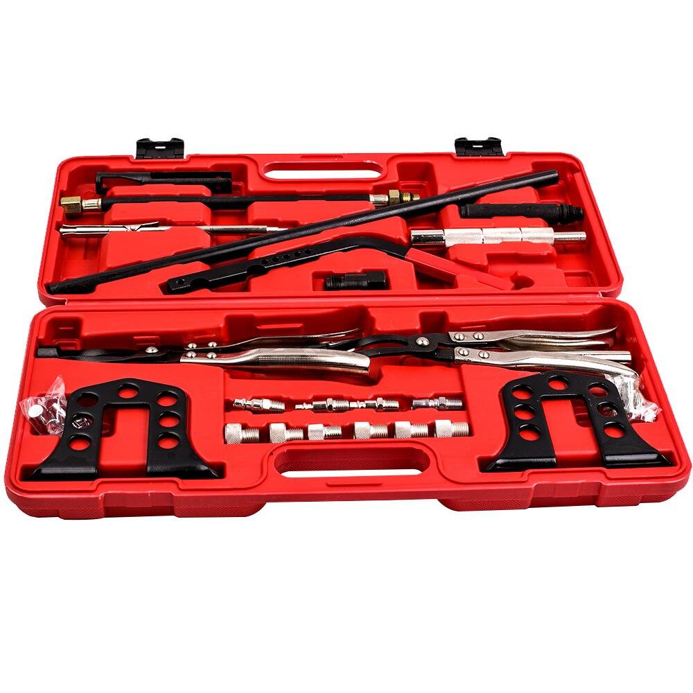 For Audi VW BMW Valve Spring Compressor Removal Installer Kit Pro Cylinder Head Service Set