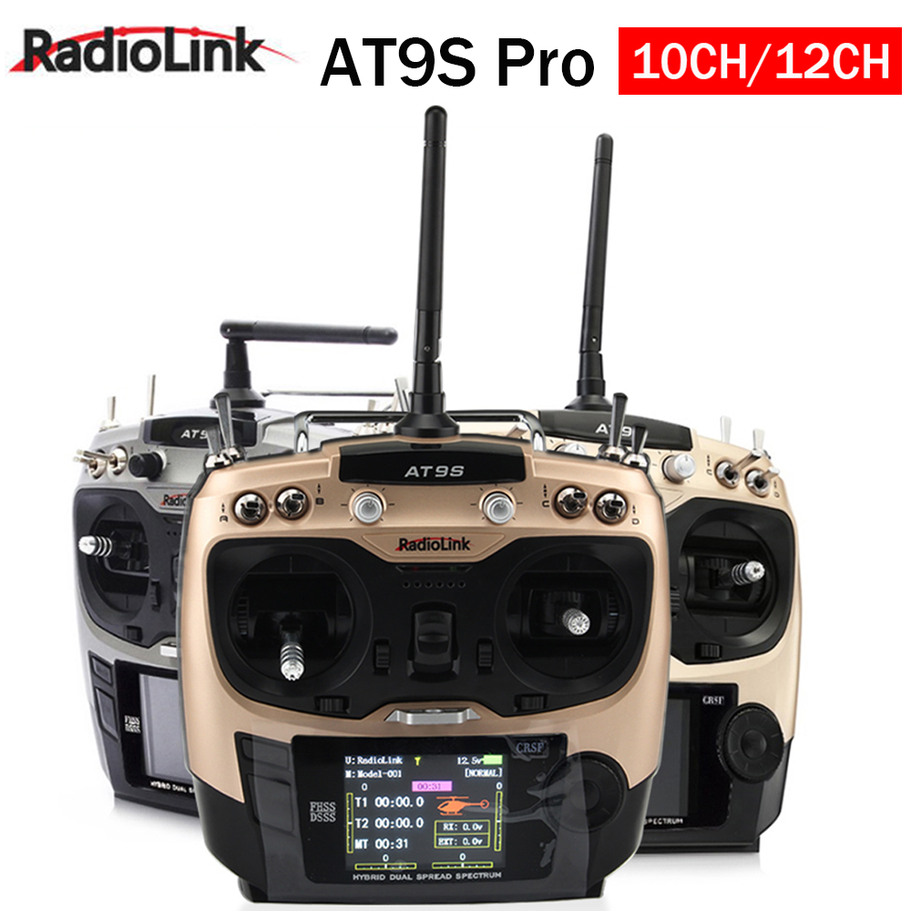 2020 New Radiolink AT9S Pro TX 10CH/12CH RC Radio Controller RC Transmitter With R9DS RX 2.4G Receiver for Racing Drone image