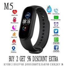 M5 banda de fitness relógio inteligente atividade rastreador pressão arterial esporte smartwatch pulseira música para ios tslm1
