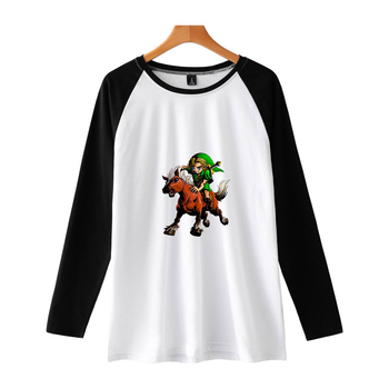 The Legend of Zelda women's hot long-sleeved new t-shirt print Kpop color double spell large size