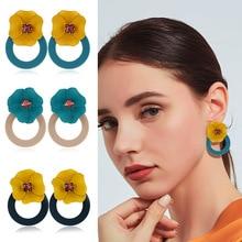 New Bohemian Earrings Korean Simple Fashion Personality Yellow Flower Women Retro Punk Wedding Jewelry