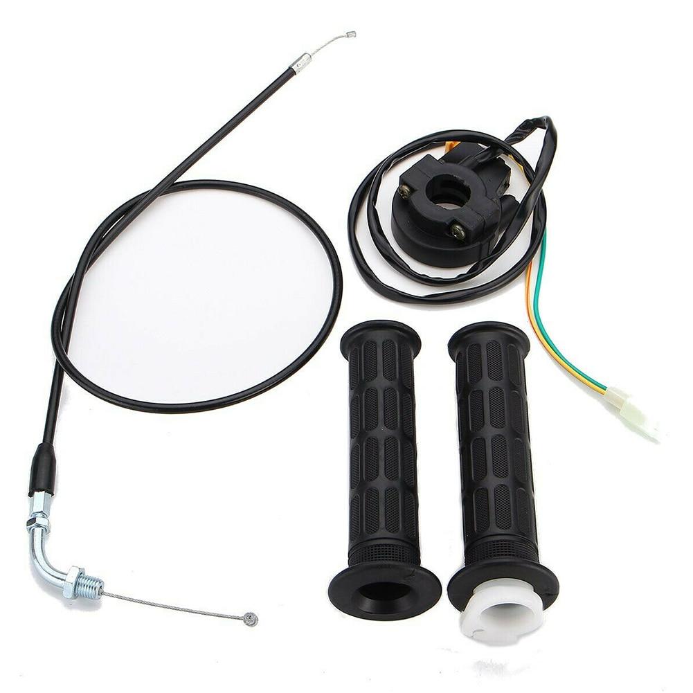 Agarre de Acelerador de Manillar Pl/ástico con Interruptor para MiniMoto Negro