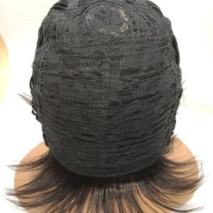 Image 2 - BCHR 8 بوصة قصيرة مستقيم بيروكات صناعية للرجال الطبيعي الأسود الذكور شعر مستعار ألياف مقاومة للحرارة الشعر المستعار شعر مستعار