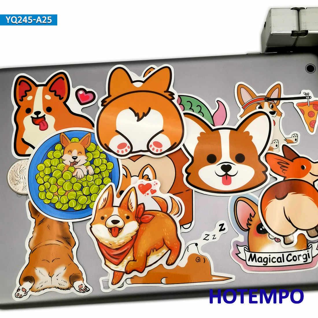 25 adet güzel galce köpek karikatür hayvanlar tarzı çıkartmalar çocuklar için DIY karalama defteri kırtasiye dizüstü bavul telefonu sevimli çıkartmaları çıkartmaları