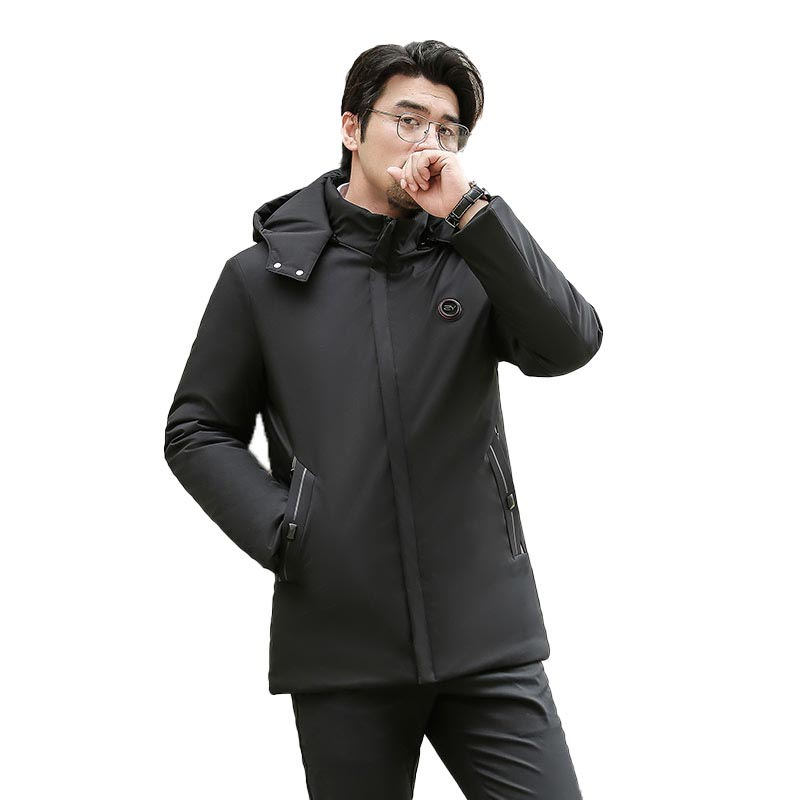 2020 New Men's Winter Down Jacket Middle-Aged Warm High Quality Thick Winter Long Coat Cotton Clothes Men Parkas