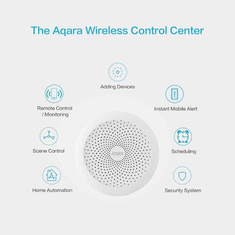 Aqara Hub Gateway2 akıllı ev kitleri duvar anahtarı kapı pencere sensörü kamera kablosuz röle modülü için Xiaomi HomeKit APP