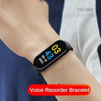 12hrs Long Recording Professional Sound Audio Voice Recorder Pen Sport Watch Band Bracelet SmartBand Wristband Smartwatch