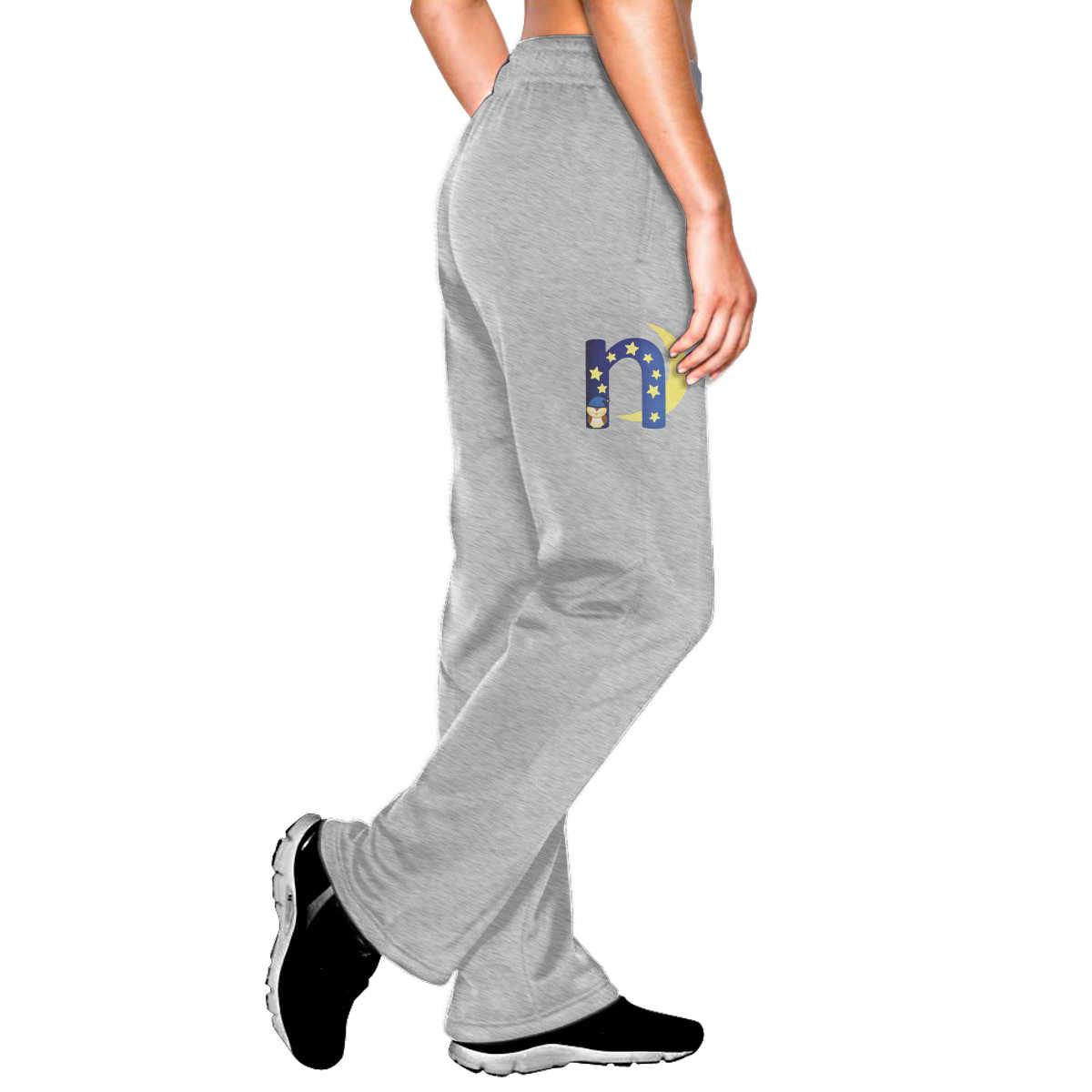 Бесшумный дизайн Осень Черный Серый тренировочные женские брюки для женщин буквы N свободные брюки с высокой талией женские брюки