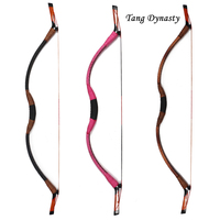 30-50lbs Traditional Tang Dynasty Wood Achery Bow Archery Shooting Hunting Bow Recurve Bow for Outdoor Game Target Practice