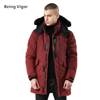 Winter Parka Men Coat Fur Hooded Thicken Jacket Men's Outerwear Military Trench Overcoats Long  jaqueta masculina 3XL