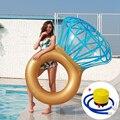 40 см Надувное бриллиантовое плавающее кольцо плавательное кольцо для взрослых с откидывающейся спинкой надувная плавающая кровать водный ...