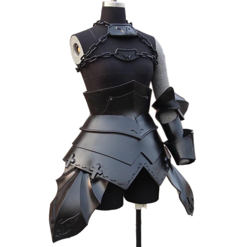 FGO Alter Fate Grand Order Avenger Cosplay Armor Costume Mask Helmet Kyrielight Saber Joan Jeanne D'arc Headwear