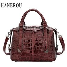 все цены на Women's Bag Luxury High Quality Patent Leather Fashion Crocodile Pattern OL Handbag 2019 New Vintage Shoulder Messenger Bag онлайн