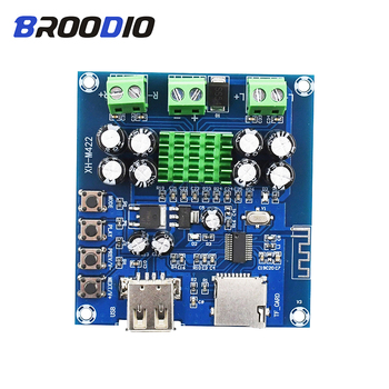 TPA3116D2 Bluetooth Amplifier Board Audio Amplifiers Dual Channel 2*50W DC12-24V Support TF Card U Disk Bluetooth Amplificador