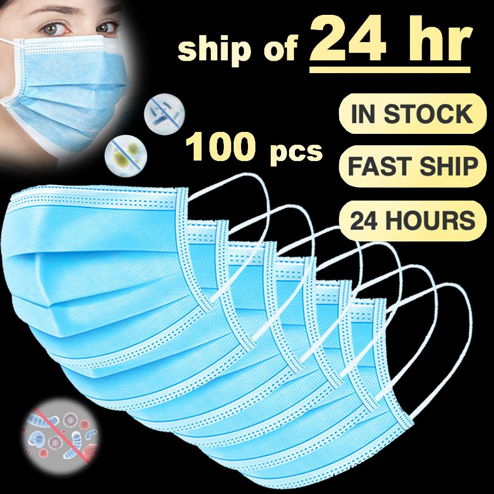 3 Layer Disposable Mask Mouth Dust Protection Masks Disposable Face Masks Disposable Dust Filter Safety Anti-pollution Mask