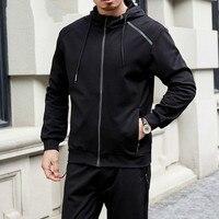 New 2020 Plus Size 8xl 7xl Men's Set Spring Autumn Man Sportswear 2 Piece Sets Sports Suit Jacket+pant Sweatsuit Male Tracksuit