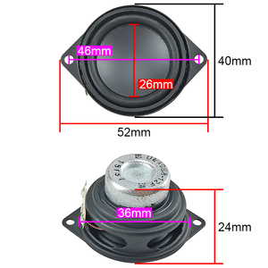 Image 3 - GHXAMP 1.5inch 40MM Neodymium Full Range Speaker Bluetooth speaker composite pot bottom rubber edge 8 ohm 3W 2PCS