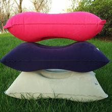 Almohada plegable portátil para dormir, para viajes al aire libre, tienda de campaña, almohada inflable, avión, descanso de hotel, almohadas cómodas para dormir