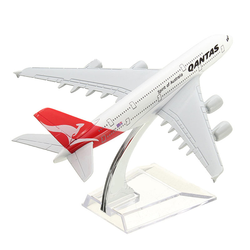 16CM Airplane Metal Plane Model Aircraft Model Building Kits Toy For Children A380 AUSTRALIA QANTAS Collection Kids Toys image